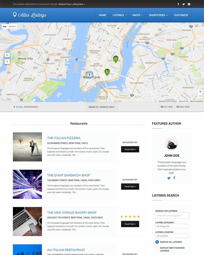 Atlas Directory Theme