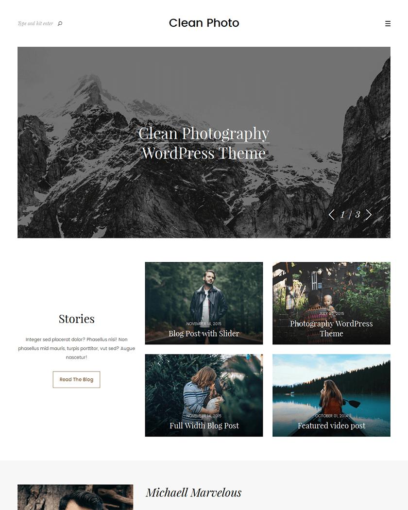 Clean Photo Theme
