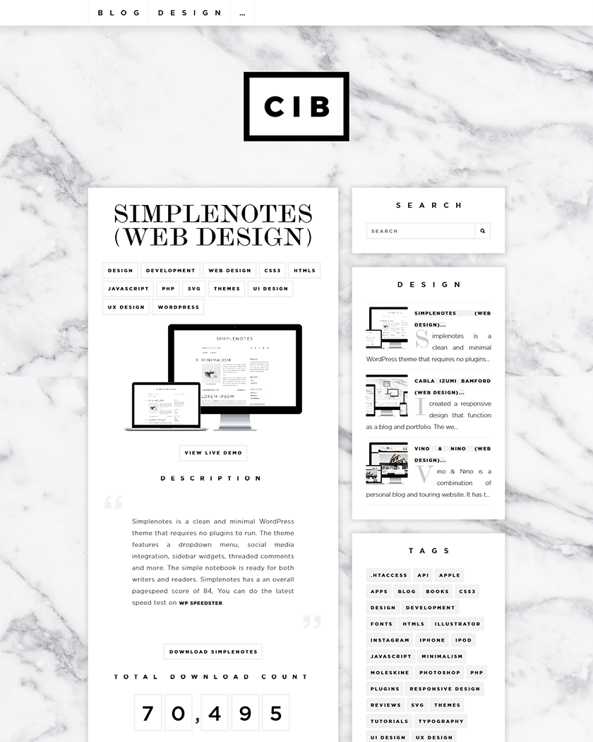 Simple notes Theme