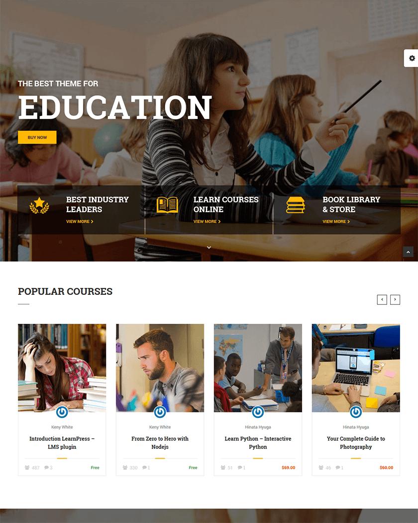 20+ Best Education WordPress Themes