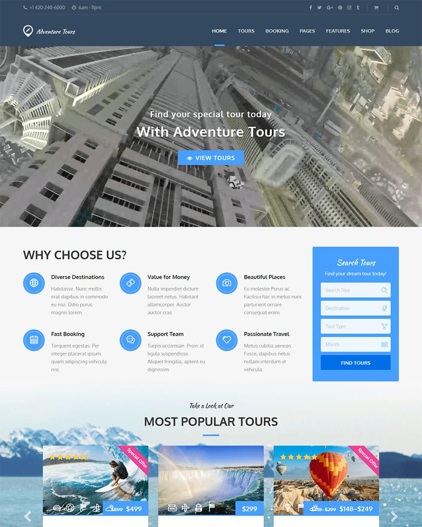 Adventure Tours Theme
