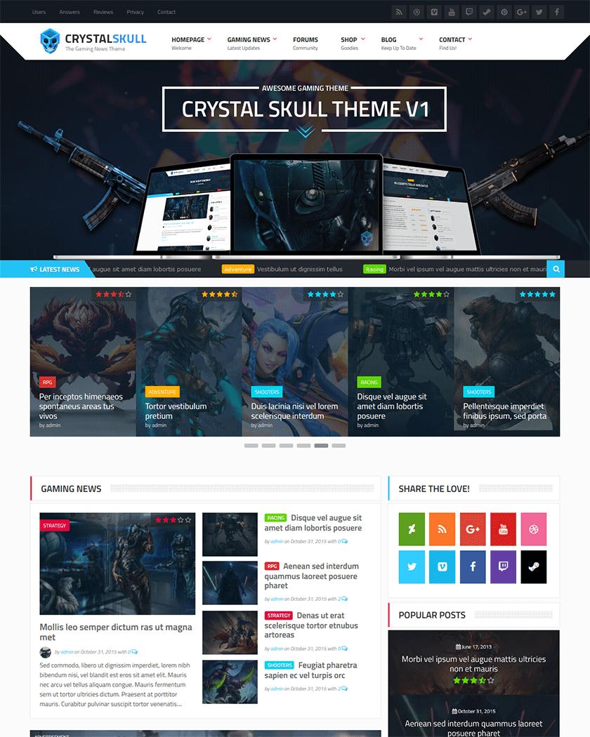 CrystalSkull Theme
