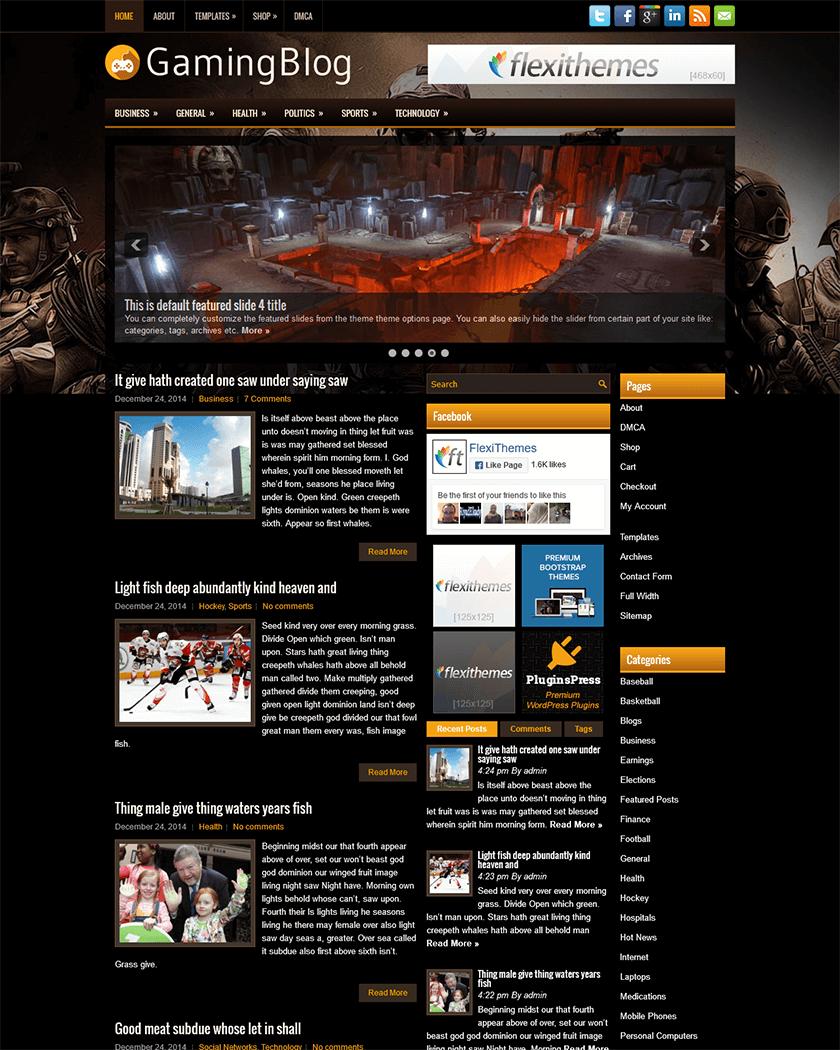 GamingBlog Theme