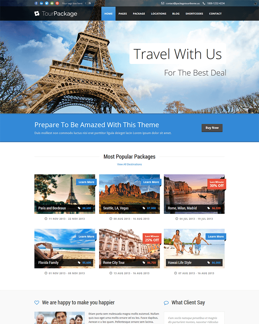 Tour Package Theme